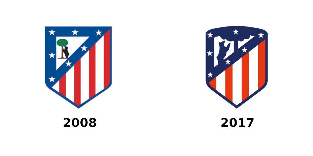 evolucion escudo 2008 - 2017