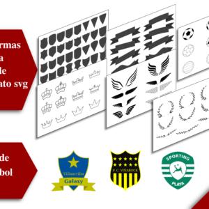 imagen plantilla para escudos de futbol